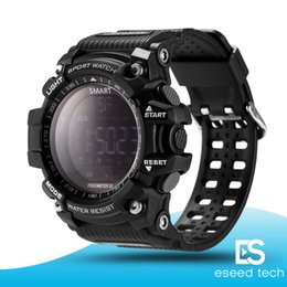 androide remoto de la cámara Rebajas EX16 Deportes Reloj Inteligente Bluetooth IP67 a prueba de agua Cámara Remota Fitness Tracker Wearable Technology Running reloj de pulsera para IOS Android