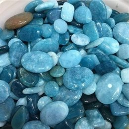 Wholesale Pole For Fishing - 100g Irregular sapphire Tumbled Stones Gravel Crystal Healing Reiki Rock Gem Beads Chip for Fish Tank Aquarium Decor