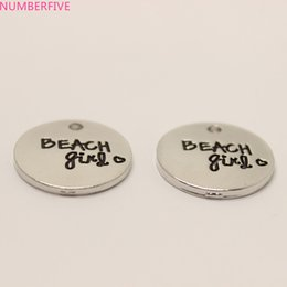 Wholesale Jewelry Making Metal Heart Charms - 10pcs  Beach heart Charm 20mm beach girl charms Pendant for diy Jewelry making