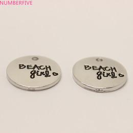 Wholesale Metal Charms Pendants Circles - 10pcs  Beach heart Charm 20mm beach girl charms Pendant for diy Jewelry making