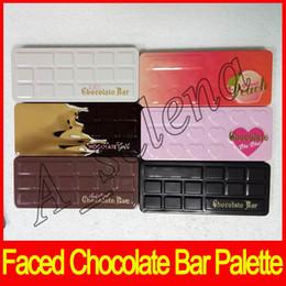 Wholesale gold bar chocolate - Hot Faced Eyeshadow Palette Sweet Peach White Chocolate Bar Semi-sweet Chocolate Bon Bons Chocolate Gold 6 versions free shipping