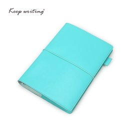 Wholesale A5 Journal - A5 Organizer notebooks and journals agenda Dotted pages lined Blank Grid Paper PU Leather Stationery For Students white-collar