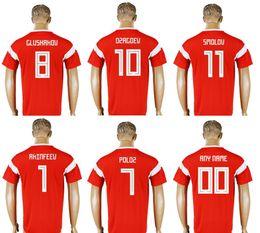 bf972caa2 New Russia  1 Igor Akinfeev 10 Alan Dzagoev 7 Dmitry Poloz 8 Denis  Glushakov Mens Uniforms Football Shirts Sports Team Pro Soccer Jerseys