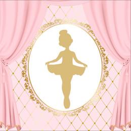 8x8ft foto sullo sfondo Sconti 8x8FT Baby Ballerina Danza Corona Diamanti Rosa Chiaro Drappo Tenda Foto Sfondo Personalizzato Studio Fondali In Vinile 240 cm x 240 cm
