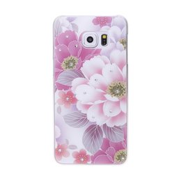 Wholesale Pink Animated - For Samsung S6edge Plus Phone Case 3D Simple Style Animated Pattern Embossed Design PC Material Phone Hard Shell