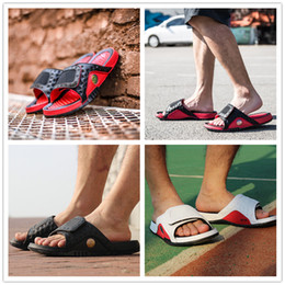 Wholesale Black Cat Slippers - 2018 New Arrival Hydro 13 Sandals XIII Real Cat eye Slippers for High quality Black Red White 13s Shoe Casual Air Sport Slides Slipper 40-45