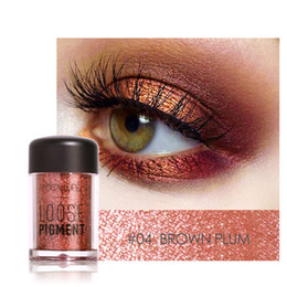 Wholesale Loose Cosmetic Glitter - Focallure 12 Colors Brand Glitter Eyeshadow Powder Loose Shimmer Eyeshadow 3D Nude Metallic Eye Shadow Makeup Cosmetics Wholesale 1226040