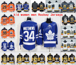 Wholesale St Louis Hockey Jerseys - 2018 AD NHL bairn Pittsburgh Penguins Toronto Maple Leafs St. Louis Blues Edmonton Oilers Vegas Golden Knights men women Kid Hockey Jerseys