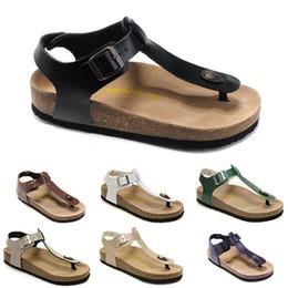 Wholesale cheap red heels for women - 2018 Cork Sandals Bi rkenstock Kairo Men And Women Sandals Cheap Flip Flops Cork Sandal Soft Flat Sandals With Box For Sale Free Shipping