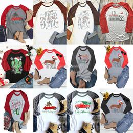 Mujeres camiseta de navidad mujer carta casual camiseta de manga larga  impresa 2018 otoño camiseta de maternidad tops 12 estilos DHL C4747 e0d52b2711da2