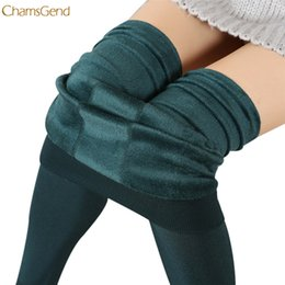 Wholesale thermal leggings wholesale - CHAMSGEND 2017 Women Winter Leegings 7 Colors Women Thick Warm Fleece Lined Thermal Stretchy Leggings Pants High Waist Leggings