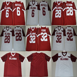 2021 pullover sam bradford Mens Samaje Perine 32 Baker Mayfield 6 Brian Bosworth 14 Sam Bradford 44 rosso bianco Oklahoma Sooners Cheap Stitched College maglie da calcio pullover sam bradford economici
