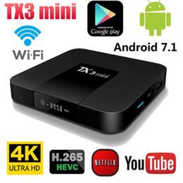 2019 receptores de satélite usb Android 7.1 TX3 Mini Inteligente Set-top Box TV S905W Quad Core 2 GB Ram 16 GB ROM 4K Wif HD Streaming Mídia Caixa de IPTV