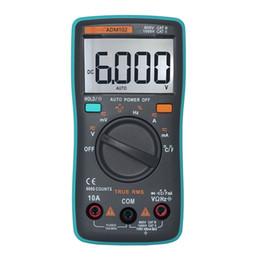 Argentina Probador del multímetro de Digitaces auto 6000 cuenta amperímetro del Ohmio de AC / DC Medidor de temperatura de Capacimetro Rlc del metro de la temperatura cheap ohms meters Suministro