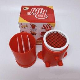 fabricantes de doces Desconto Batata Doce Jiffy Fries Rápido Fresco Fácil Cozinha Ferramentas de Lavar Louça 2 Em 1 Francês Fry Maker Prático 13at BB