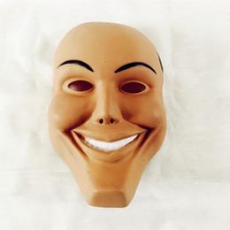 Vestido de plástico vestido online-Máscara de terror de Halloween cara sonriente Dress Up Máscaras de plástico cara completa realización de accesorios fiesta de disfraces 2 5lh Ww