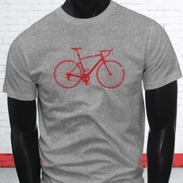 plus size bicycle shorts Promo Codes - Bike Life Love Bicycle Wheels Red Biker Track Mens Gray T-Shirt Short Sleeve Plus Size t-shirt colour jersey Print t shirt