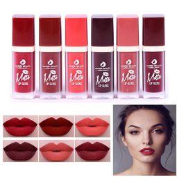 Wholesale Beauty Mats - HABIBI BEAUTY Makeup Lipstick Set Lasting Moisture Matte Lip Gloss Set Red Matte Liquid Lipstick Lip Brand Mat Lipstick Kit