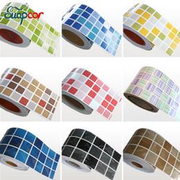 Bordi decorativi online-Adesivi decorativi bagno moderno 5M Adesivo da parete in vinile autoadesivo girevole da cucina in vinile
