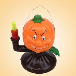 2019 хэллоуин ярдов огни Shouting Lighting Pumpkin Lamp Halloween Supplies Yard Party Prop Plastic дешево хэллоуин ярдов огни