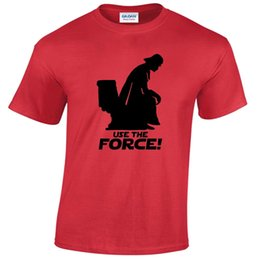 Wholesale used shirt - USE THE FORCE MENS T SHIRT VADER FUNNY WARS STAR GIFT