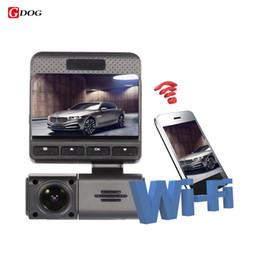 "Wholesale view sales - 2017 hot sale Novatek 96658 WIFI real monitor car dvr 2.45"" IPS screen FHD1080P dual lens camera rear view camera app control"