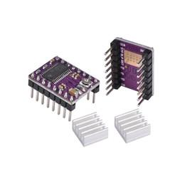 i connettori Sconti StepStick DRV8825 DRV 8825 rampe per motore passo-passo 1.4 Reprap 4 per modulo PCB Sostituire A4988 con dissipatore di calore Parte pinter 3D