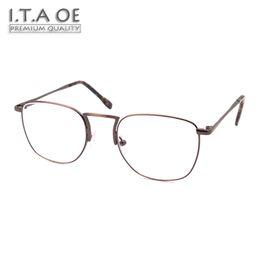 Malas aleaciones online-ITAOE Modelo Breaking Bad Aleación de alta calidad Hombres Gafas graduadas ópticas Marcos de gafas Gafas 136mm