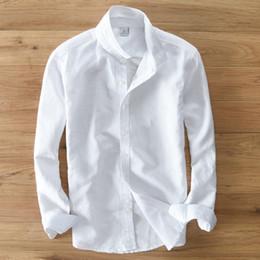 Frühling Und Herbst Männer Mode Marke Japan Stil Slim Fit Baumwolle Leinen  Langarmhemd Männlichen Casual Weißes Hemd Import Kleidung rabatt imported  branded ... 26730eef99