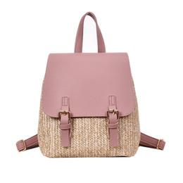 474213293956 Famous Brand Straw Backpack Women Back Pack Summer Teenage Girl Quality  Backpacks Travel Bags Books Rucksack Dropshipping