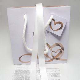 2019 rubans d'anneau Coeur Ruban Papier Bijoux Sac Boîte En Carton Pour Pandora Bracelet Boucles D'oreilles Anneau Collier Bijoux Emballage Et Affichage rubans d'anneau pas cher