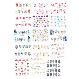 2019 decalcomanie di arte del chiodo 15 Pz Carino Misto Unghie Art Stickers Estate Slider Flamingo Gufo Fiore Animale Disegni Manicure Acqua Nail Manicure Decalcomanie decalcomanie di arte del chiodo economici