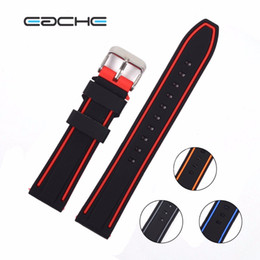 Wholesale Watchband 26mm - EACHE colorful watch band 20mm,22mm,24mm,26mm Silicone Rubber Watch Straps Waterproof Watchband