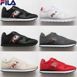 Wholesale cool skateboarding shoes - New Designer Fila Mens Running Shoes Black White Red Cool Grey Luxury Casual Trainers For Men Outdoor Sports Sneakers size 7-10