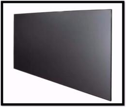 tela de tela dobrável Desconto 16: 9 HDTV Formato Home theater Thin Bezel Tela de projeção Quadro Fixo com luz ambiente rejeitando para projetores normais