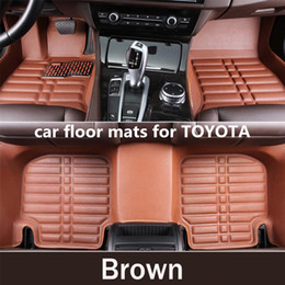 accessories camry Promo Codes - Carpet Custom Car Floor Mats for Toyota crown reiz camry corolla corolla ex levin vios yaris l Car Accessories Car Mats