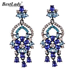 Wholesale Luxury Boho Fashion - Best lady Hot Brand Boho Multicolored Statement Earrings for Women Wedding Jewelry New Fashion Luxury Drop Dangle Charm Earrings