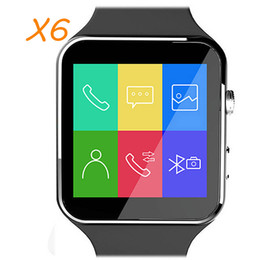 Wholesale Facebook Messaging - Bluetooth Smart Watch X6 Sport Passometer Smartwatch with Camera Support SIM Card Whatsapp Facebook for Android Phone