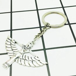 Wholesale Antique Egyptian Jewelry - 2018 New Popular Hot Sell Antique Silver Egyptian Queen Charm Pendant Keychain Keyring Creative Women Jewelry Accessories Holiday Gift