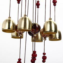 Wholesale Wind Shops - 80cm Outdoor Living Wind Chimes Yard Garden Wind Chime Windchime Garden Feng Shui Home Shop Decor Tubes Bells Copper 13 Bells