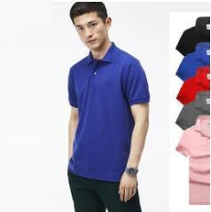 Wholesale coloured crystals - 21 colour Hot luxury New Brand crocodile embroidery Polo Shirt Men Short Sleeve Casual Shirts Man's Solid Polo t shirt Plus Camisa Polo