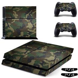 Clássico Adesivo PS4 Verde Camuflagem Tampa Do Vinil Adesivo de Pele PS4 Decalque para Sony Play Station 4 Console e 2 Controlador de Pele de