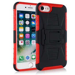 983c647e5dce Hybrid Armor case For Huawei Y9 2018 Y6 Y5 Y7 2018 TPU+PC 3 in 1 Shockproof  cover With clip phone Case