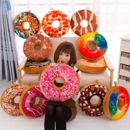 Canada Creative Cartoon Donuts Coussin Canapé Chaise Décorative Oreiller De Mode En Peluche PP Coton Oreiller Jouet Cadeau 40 CM Livraison Gratuite WX-P13 Offre