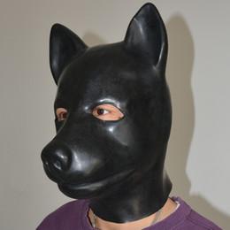 Gummi-schweinkopf online-(LS02) Fetisch Latex Vollkopf Latex Schwein Hund Katze Leopard Wolf Pferd Tierkopf Sklavenklappe Gummi Kapuze SM Kapuze ersticken Maske