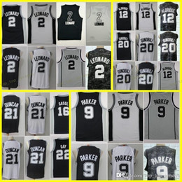 00a01f170 CITY EDITION 2018 New san antonio Basketball Jersey 2 kawhi leonard 20 manu  ginobili 12 lamarucs aldridge 9 tony parker Jerseys Black White