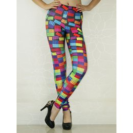 Wholesale Cheap Printed Leggings - 2017 Cheap Clothes Women's Leggings Building blocks pattern 3D Print Yoga Pants WL8282
