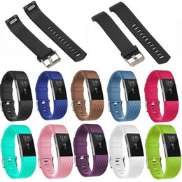 Wholesale White Watch Band Replacement - Silicone Strap For Fitbit Charge2 Band Fitness Smart Bracelet Watches Replacement Sport Strap Band for Fitbit Charge 2