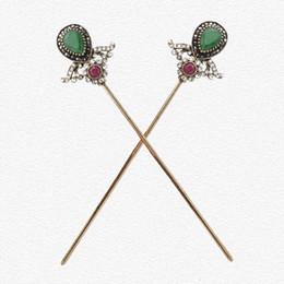 Canada Vintage turc femmes fleur de bâtons arabine résine épingle à cheveux bijoux or antique couleur Inde mariée peigne mous serré fermoir supplier india antiques Offre