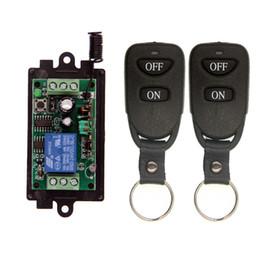 Rf modulo relè online-Telecomando RF wireless Interruttore luce 10A Uscita relè Radio DC 9V 12V 24V 1 Canale CH Modulo ricevitore 1CH + Trasmettitore